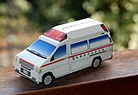 ペーパークラフト救急車